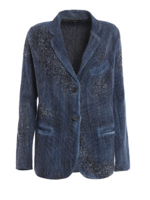 Avant Toi: blazers - Wicker stitch knitted wool jacket