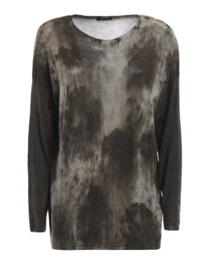 Avant Toi: boat necks - Camu cashmere and silk sweater