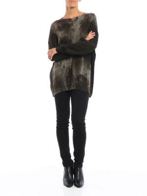 Avant Toi: boat necks online - Camu cashmere and silk sweater