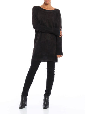 Avant Toi: boat necks online - Cashmere and silk long sweater