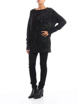 Avant Toi: boat necks online - Printed cashmere sweater