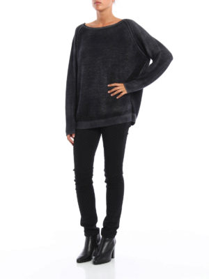 Avant Toi: boat necks online - Shaded cashmere and silk sweater