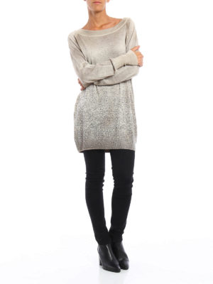 Avant Toi: boat necks online - Studded cashmere and silk sweater