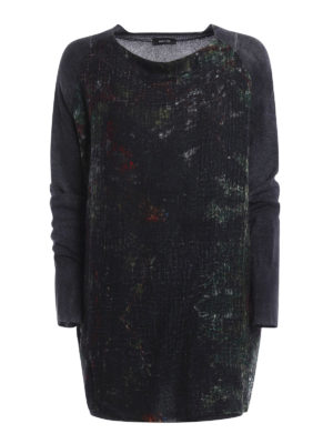 Avant Toi: boat necks - Printed cashmere sweater