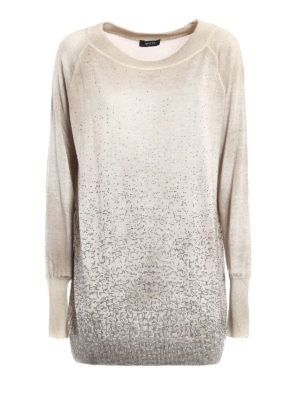 Avant Toi: boat necks - Studded cashmere and silk sweater
