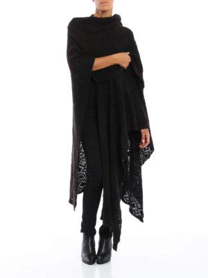 Avant Toi: Capes &  Ponchos online - Diamond stitch knit merino cape