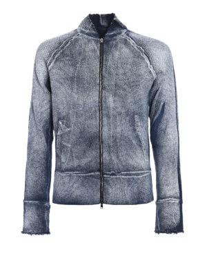 Avant Toi: cardigans - Linen blend zipped cardigan