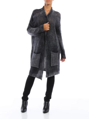Avant Toi: cardigans online - Cashmere and silk long cardigan