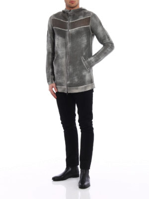 Avant Toi: cardigans online - Linen and cotton hooded cardigan