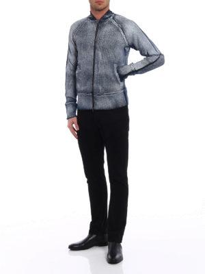 Avant Toi: cardigans online - Linen blend zipped cardigan