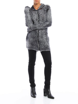 Avant Toi: cardigans online - Zipped and hooded cardigan