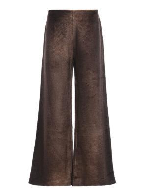 AVANT-TOI: casual trousers - Alpaca palazzo trousers