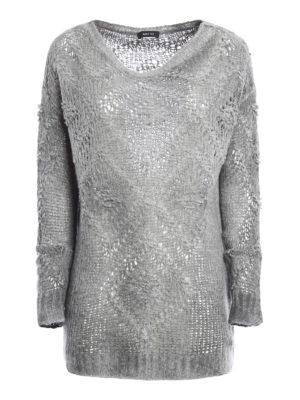 Avant Toi: crew necks - Diamond patterned long sweater