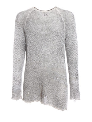 Avant Toi: crew necks - Drilled cotton and linen sweater