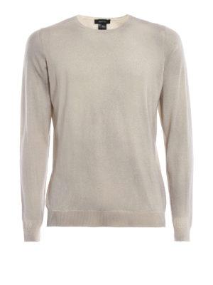 AVANT-TOI: maglia collo rotondo - Girocollo in cashmere seta color gesso