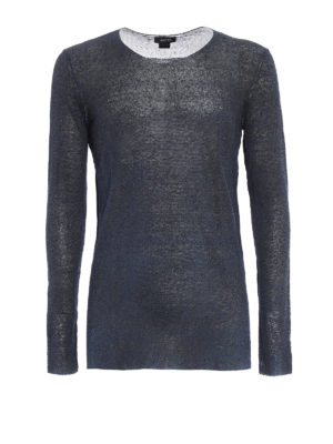Avant Toi: crew necks - Hand painted linen blend sweater