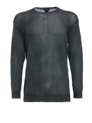 Avant Toi: crew necks - Hand painted linen sweater