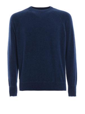 AVANT-TOI: maglia collo rotondo - Pull stile felpa in cashmere blu mélange