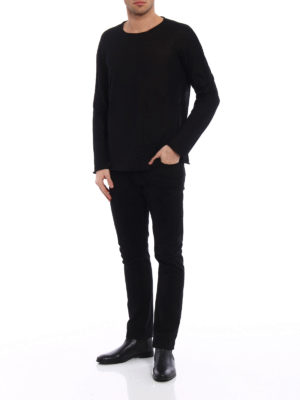 Avant Toi: crew necks online - Cashmere and silk reversible top