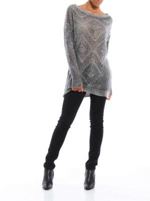 Avant Toi: crew necks online - Diamond patterned long sweater