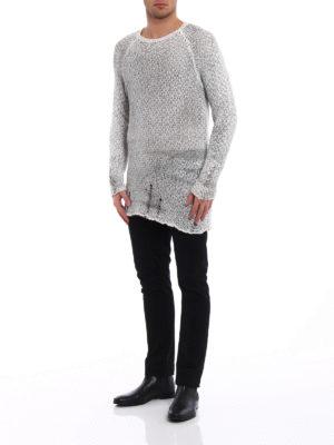 Avant Toi: crew necks online - Drilled cotton and linen sweater
