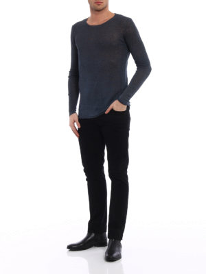 Avant Toi: crew necks online - Hand painted linen blend sweater