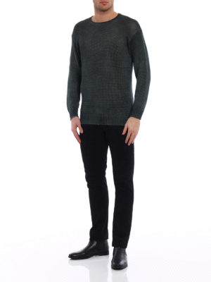 Avant Toi: crew necks online - Hand painted linen sweater