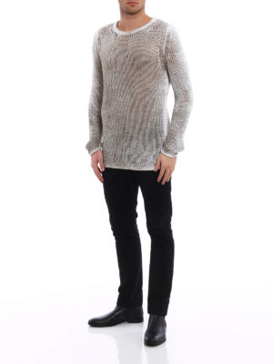 Avant Toi: crew necks online - Shaded cotton long sweater