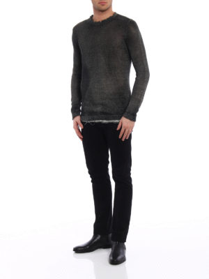 Avant Toi: crew necks online - Shaded destroyed sweater