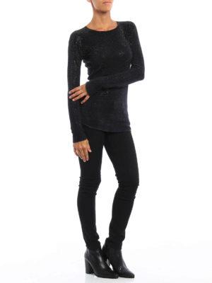Avant Toi: crew necks online - Studded cashmere crewneck