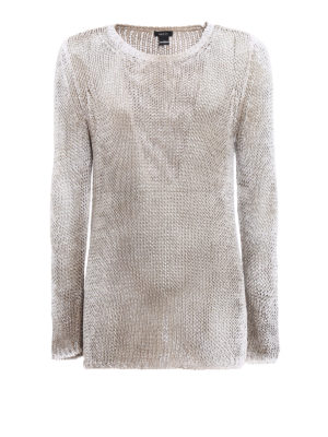 Avant Toi: crew necks - Shaded cotton long sweater