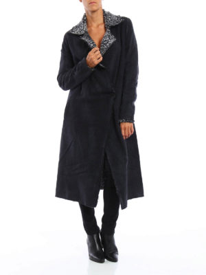 Avant Toi: knee length coats online - Reversible oversize coat