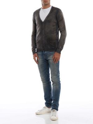 AVANT-TOI: cardigan online - Cardigan in cashmere e seta tinto sfumato