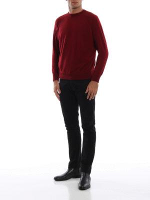 AVANT-TOI: maglia collo rotondo online - Pull stile felpa in cashmere bordeaux