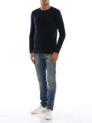 AVANT-TOI: maglia collo rotondo online - Pull girocollo in cashmere blu navy