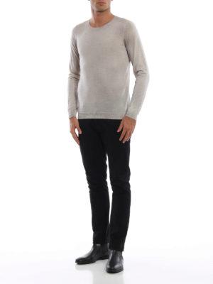 AVANT-TOI: maglia collo rotondo online - Girocollo in cashmere seta color gesso