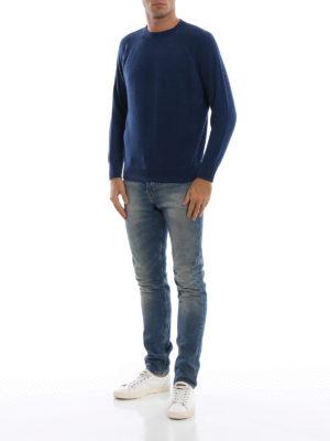 AVANT-TOI: maglia collo rotondo online - Pull stile felpa in cashmere blu mélange