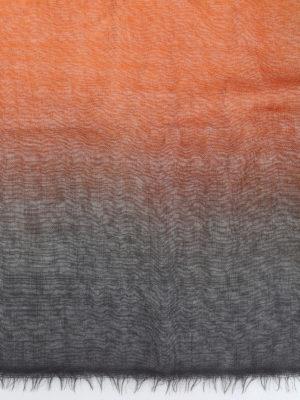 AVANT-TOI: Stole & Scialli online - Pashmina nera e rosso terra in cashmere