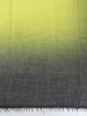 AVANT-TOI: Stole & Scialli online - Pashmina in cashmere nero e giallo acido