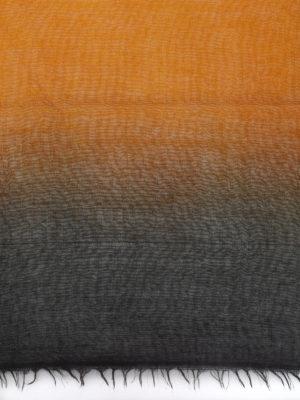 AVANT-TOI: Stole & Scialli online - Pashmina in cashmere nero e arancio