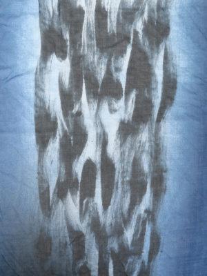 AVANT-TOI: Stole & Scialli online - Stola in misto cashmere blu e nero