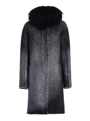 Avant Toi: parkas - Fur trimmed shaded merino parka
