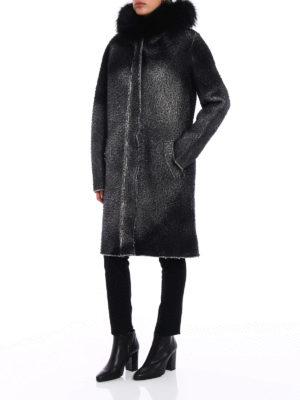 Avant Toi: parkas online - Fur inserts wool and cashmere parka