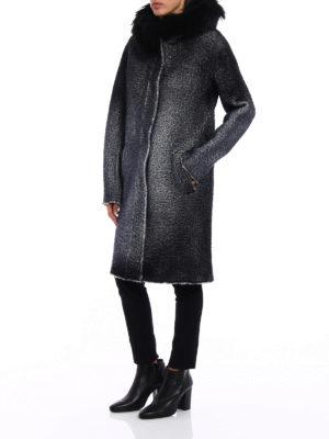 Avant Toi: parkas online - Fur trimmed shaded merino parka