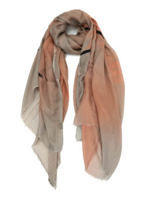 Avant Toi: scarves - Cashmere blend shaded effect scarf