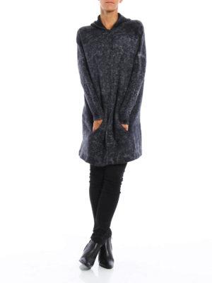 Avant Toi: short coats online - Hodded jacquard short coat
