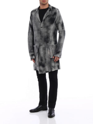 Avant Toi: short coats online - Shaded linen and cotton coat