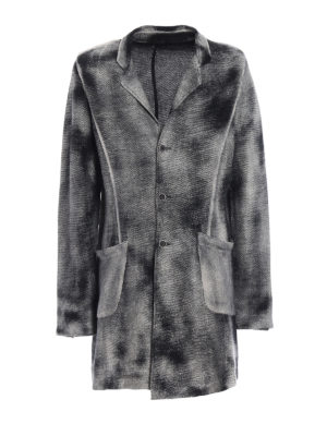 Avant Toi: short coats - Shaded linen and cotton coat