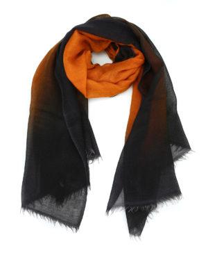 AVANT-TOI: Stole & Scialli - Pashmina in cashmere nero e arancio