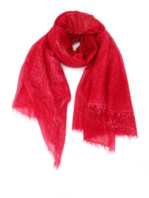 Avant Toi: Stoles & Shawls - Laminated cashmere gauze shawl